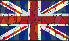 United Kingdom Stained Glass Window Stock Illustration