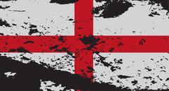 Grunged England Flag - stock illustration