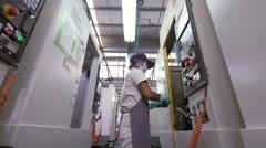 Factory machine Operator-Technician 2 Stock Footage