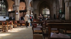Church of the Holy Trinity at  Stratford-upon-Avon, England - stock footage