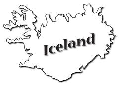 Iceland On Map Stock Illustration
