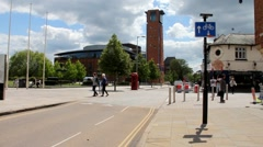 Royal Shakespeare Company Theatre, Stratford-Upon-Avon, England Stock Footage