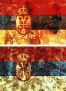 old flag of serbia - stock illustration