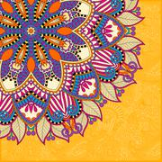 Stock Illustration of floral yellow pattern in ukrainian oriental ethnic style
