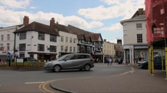 Unidentified tourists in the center of Stratford Upon Avon, England Stock Footage