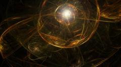 Abstract dark artistic sphere - stock illustration