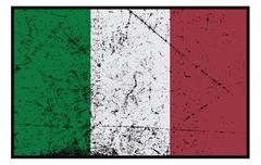 Italian Flag Grunged Stock Illustration