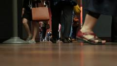 Visitors' feet at museum d'Orsay, Paris Stock Footage