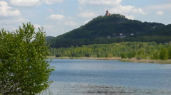 Lake with castle Stock Footage