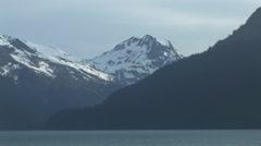 Alaska Scenery mountains with snow Stock Footage