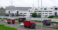 Transport Netherlands in front of ASML headquarters Stock Footage