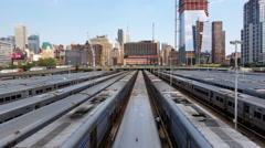 Massive Train Yard 4k Stock Footage