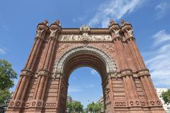Arc de Triomf (Triumph Arch) - archway structure in Barcelona, Spain. Stock Photos