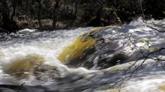 Beautiful shiny water flow 3 Stock Footage
