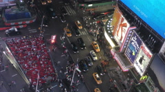 New York City Times Square from above 4K Stock Footage