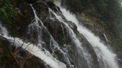 Flash Waterfall on Rocks - 4k Stock Footage