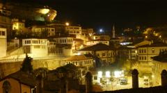 Stock Video Footage of Night Timelapse, Traditional Ottoman Anatolian Village, Safranbolu, Turkey, zoom