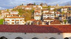 Day Timelapse, Traditional Ottoman Anatolian Village, Safranbolu, Turkey Stock Footage