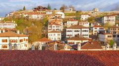 Day Timelapse, Traditional Ottoman Anatolian Village, Safranbolu, Turkey, zoom - stock footage