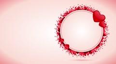 Valentines & wedding animated background Stock Footage