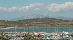 Alacati Marina, Cesme, Izmir, Turkey, Timelapse Stock Footage