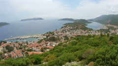 Kas, Turkey and Meis Island, Greece, Timelapse - stock footage