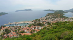 Kas, Turkey and Meis Island, Greece, Timelapse, zoom out - stock footage