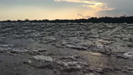 Stock Video Footage of sailing at sunset POV - Slow Motion