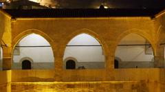 Stock Video Footage of Night View of Traditional Ottoman Anatolian Village, Safranbolu, Turkey