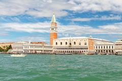View of the main promenade near St. Mark's Square in Venice - stock photo