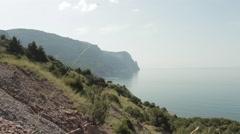 Sea and mountains Balaklava Stock Footage