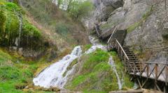 View of river at incekaya canyon, safranbolu, turkey, Stock Footage