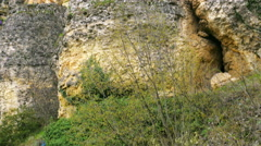 View of crystal terrace at incekaya canyon, safranbolu, turkey, Stock Footage