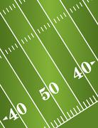 Diagonal American Football Field Background - stock illustration