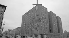 145th Street black and white archive footage 145 and St. Nick uptown NYC Stock Footage