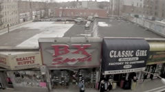 Classic South Bronx stores streets subway train ghetto Boogie Down Bronx NYC Stock Footage