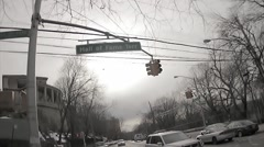 Hall of Fame Terrace Terr sign creepy house on corner South Bronx ghetto NYC Stock Footage