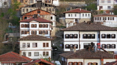 View of Traditional Ottoman Anatolian Village, Safranbolu, Turkey Stock Footage