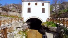 View of Traditional Ottoman Anatolian Village Mosque, Safranbolu, Turkey - stock footage