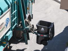 Los Angeles Trash Truck Stock Photos