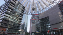 Berlin sony center at potsdamer platz Stock Footage