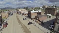 Small town flight  raw Stock Footage