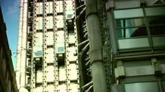 ULTRA HD 4K real time shot,City, Lloyd building in London, UK. Stock Footage