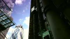 ULTRA HD 4K real time shot,the Gherkin,30 St Mary Axe skyscraper Stock Footage