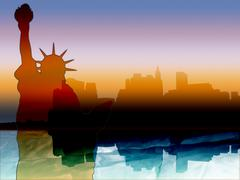 New york skyline silhouette Kuvituskuvat