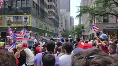 Puerto Rican Day Parade in New York City Stock Footage