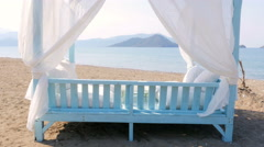 Fethiye, turkey, majestic summer travel destination, gorgeous beach sea view - stock footage