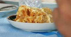 Honey cake macro Stock Footage