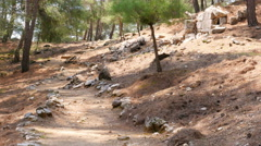 empty lycian way, lycia road, turkey. The Sunday Times has listed it as one of - stock footage
