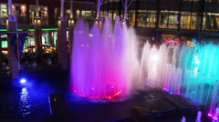 Show fountains in Jungceylon Shopping center in Patong Stock Footage